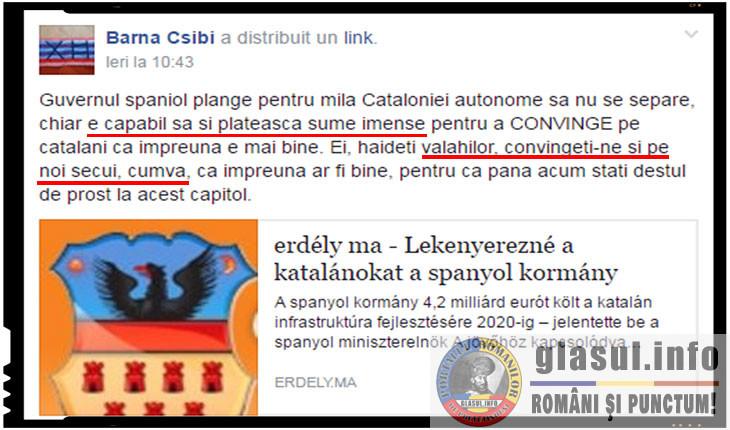 Csibi Barna vrea ca romanii sa plateasca pentru a-i convinge pe unguri sa renunte la gandurile de autonomie, Foto: facebook.com