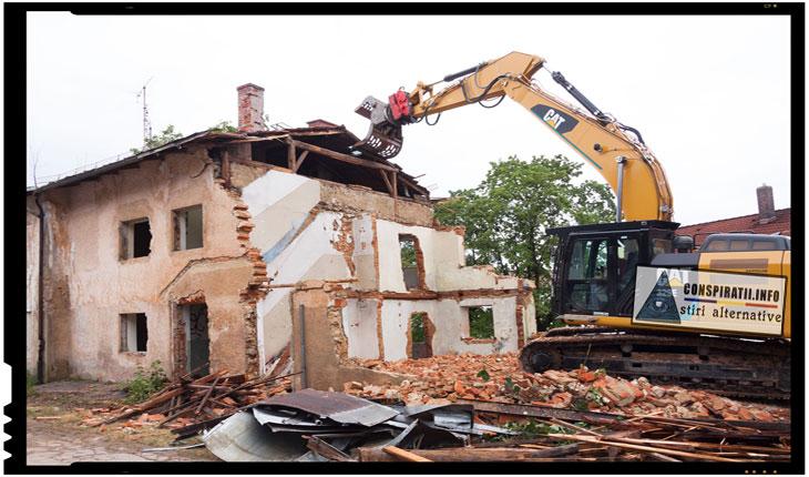 In 2013, un bulgar cu datorii si-a demolat casa si a trimis ramasitele acesteia in fata bancii