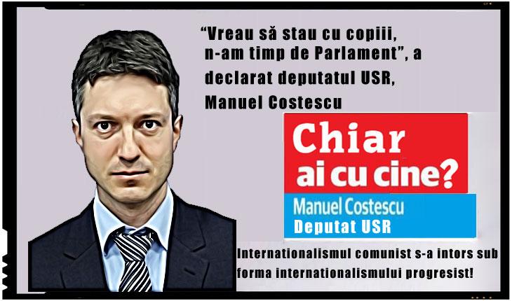 """Cam cat ii """"doare"""" pe USR-isti de Romania: """"Vreau să stau cu copiii, n-am timp de Parlament"""", a declarat Manuel Costescu"""