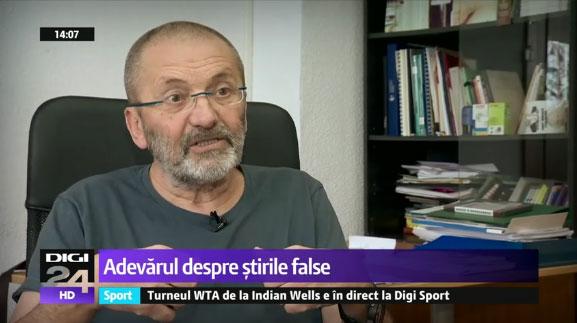 """cei de la Digi 24 l-au chemat pe Mircea Toma sa ne vorbeasca despre """"conspiratiile"""" si """"stirile false"""" cu privire la George Soros!, Foto: captura TV Digi 24"""