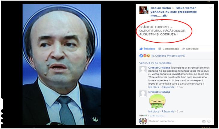 Sfantul Tudorel, ocrotitorul pacatosilor Luluta si Lazarel, a facut parte din Comisia care i-a acordat doctoratul Lulutei, Foto: facebook.com