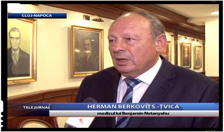 Dr. Tzvika Herman Bercovici, medicul personal al premierului israelian, Beniamin Netanyahu, Foto: TVR Cluj Napoca
