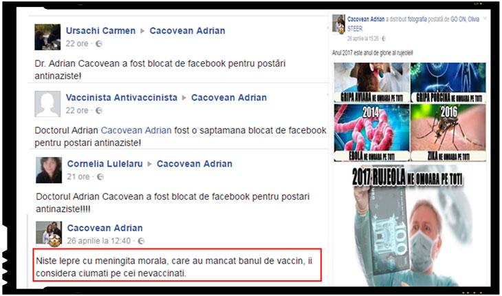 Socant! Un doctor roman a fost blocat pentru postari antinaziste?, Foto: facebook.com