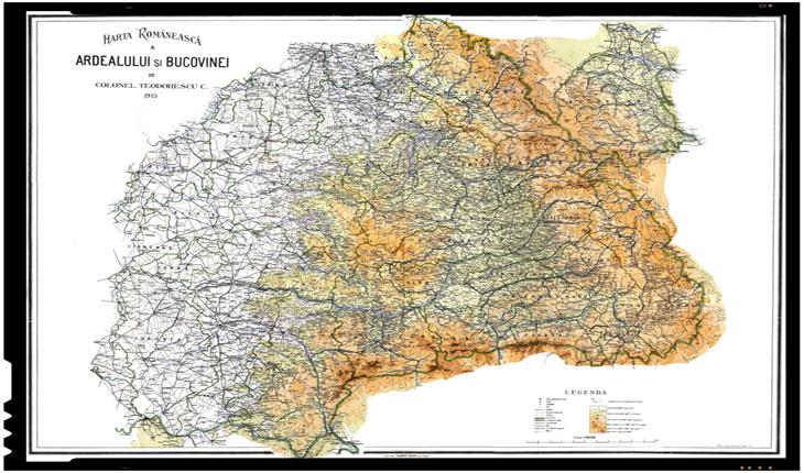Harta regiunilor austro-ungare locuite de români