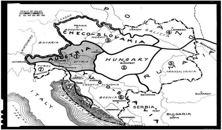 Tratatul de la Trianon - trasarea granitelor