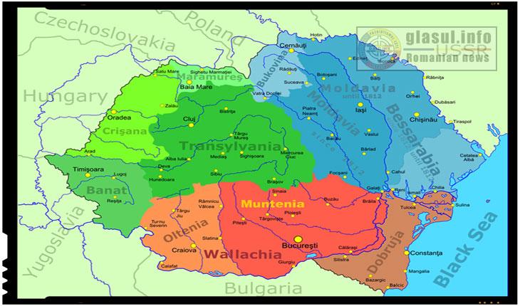 harta Romania Mare - Harta Romaniei Mari