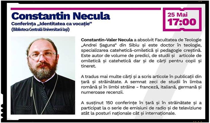 Preotul Constantin Necula sustine doua conferinte la IASI, foto: facebook.com/festivaliasi/