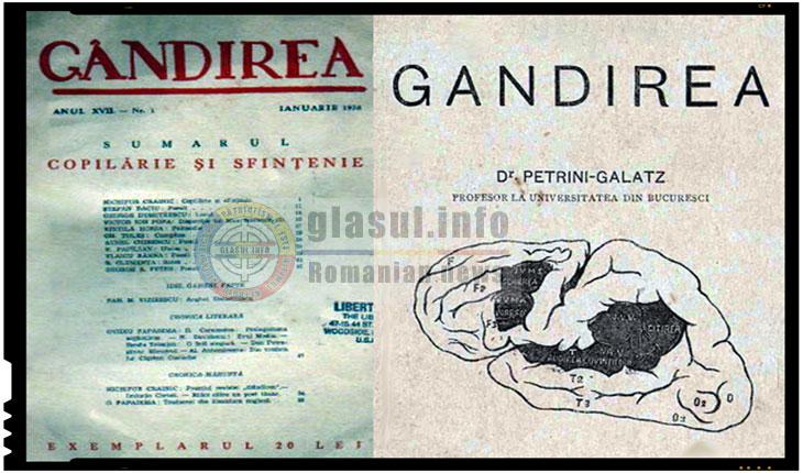 La 1 mai 1921 aparea revista Gândirea, publicatie ce tindea sa orienteze creatia spre valorile autohtone