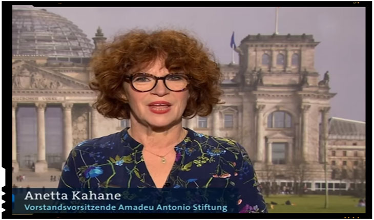 "Imbecilizare progresista promovata de ONG-ista Anetta Kahane: ""Estul Germaniei este prea alb""!?, Foto: captura youtube"