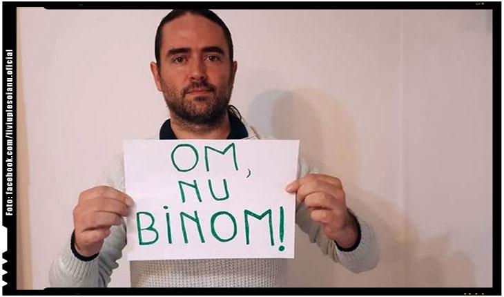 "Liviu Plesoianu: ""OM, NU BINOM!"", Foto: facebook.com/liviuplesoianu.oficial"
