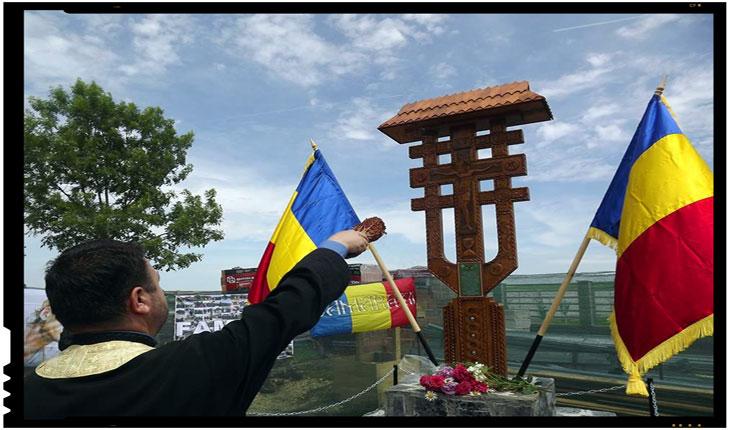Troita ridicata in satul Lada, județul Teleorman, in memoria Eroilor si Martirilor Neamului din toate timpurile si locurile, Foto: facebook.com/Camarazi/