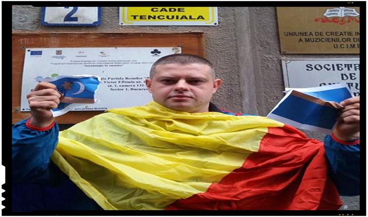 """""""Să arzi o foaie cu un steag inexistent şi să ceri să se vorbească limba oficilă a României,este discriminare?"""", Foto: facebook.com/dogaru.andrei.587"""