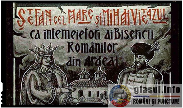 Stefan cel Mare si Mihai Viteazul, intemeietorii Bisericii romanilor din Ardeal, Foto: facebook.com/digibuc/