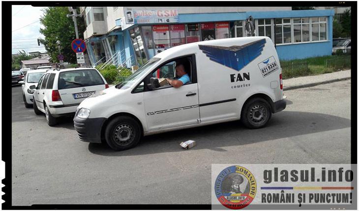 Nemultumiti de atitudinea unui angajat al FAN Courier, focșănenii l-au facut de rusine pe Internet. Compania a comunicat ca angajatul va fi sanctionat, Foto: facebook.com/ionut.ungureanu.391