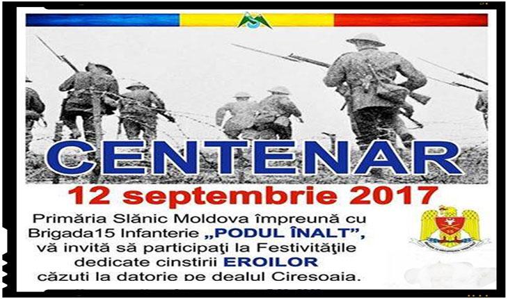 Monument al Eroilor inaugurat in județul Bacău în onoarea eroilor Regimentului 15 Infanterie, Foto: Facebook