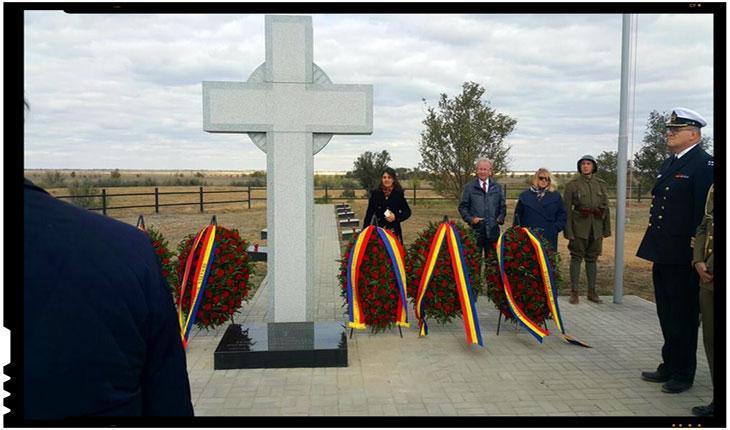 Eroii români căzuți la Stalingrad au fost reînhumați la Rossoșka, Foto: facebook.com/ovidette