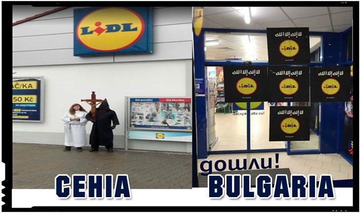 Ce au patit cei de la Lidl in Bulgaria si in Cehia dupa ce au sters crucile de pe ambalaje, Foto: Twitter