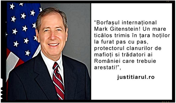Lovitura de teatru: plangere penala depusa la DNA impotriva lui Mark Gitenstein, fostul ambasador al SUA la Bucuresti