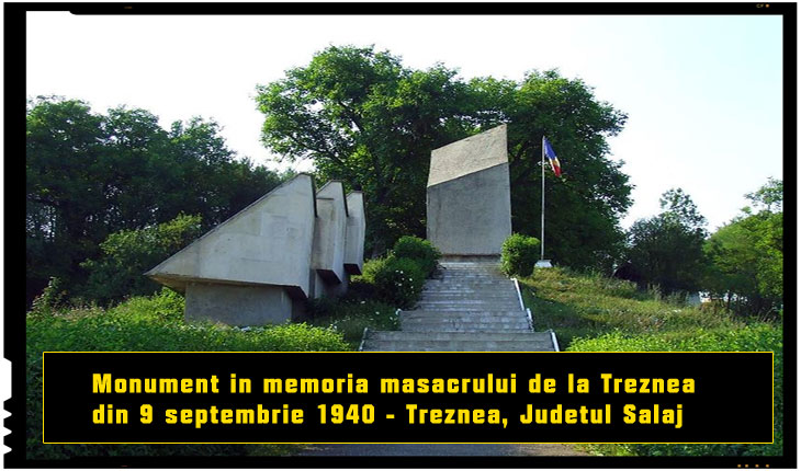 Monument in memoria masacrului de la Treznea din 9 septembrie 1940 - Treznea, judetul Salaj