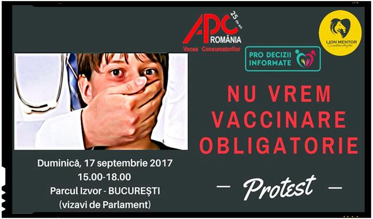Pe 17 septembrie 2017 se organizeaza la Bucuresti un protest impotriva obligativitatii vaccinarii, Foto: Alexandra Oberschi/ facebook.com/LionMentorAssociation/