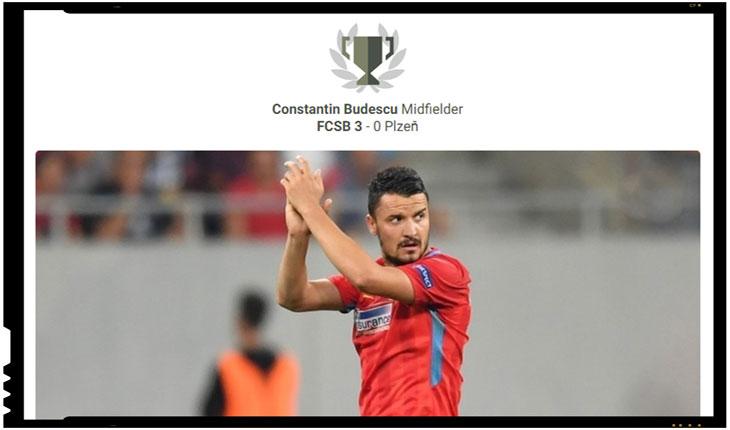 Românul Constantin Budescu a fost ales pe site-ul UEFA jucatorul etapei din Europa League, Foto: Uefa.com