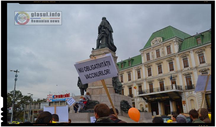 Alt protest impotriva legii vaccinarii obligatorii ignorat de presa mainstream din Romania