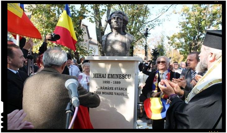 De acum Eminescu strajuieste hotarul de vest al Romaniei la Carei, Foto: BuletindeCarei.ro