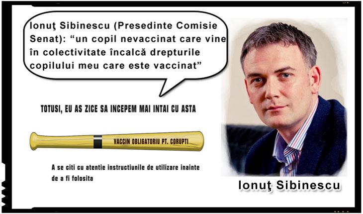 """Senatorul Ionuţ SIBINESCU: """"un copil nevaccinat care vine în colectivitate încalcă drepturile copilului meu care este vaccinat"""""""
