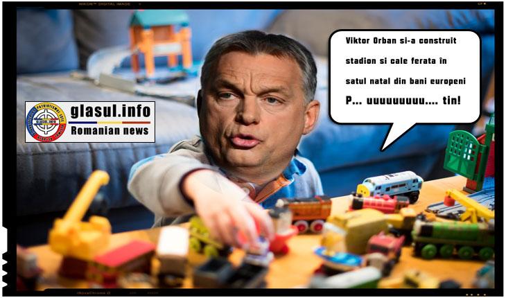 Viktor Orban si-a construit in satul natal pe bani europeni o cale ferata si un stadion
