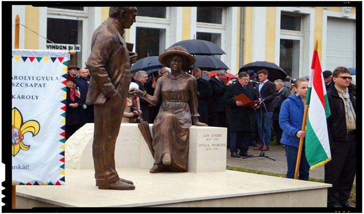 Se intâmplă in România: dezvelire grup statuar la Carei fără steag românesc!, Foto: facebook.com/pg/buletindecarei.ro