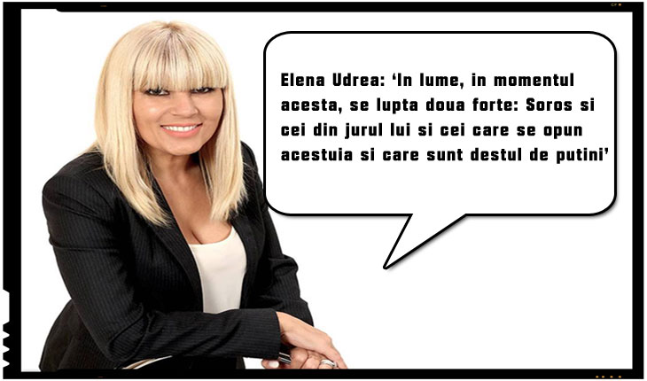 """Elena Udrea: """"In lume, in momentul acesta, se lupta doua forte: Soros si cei din jurul lui si cei care se opun acestuia si care sunt destul de putini"""", Foto: facebook.com/EUdrea/"""