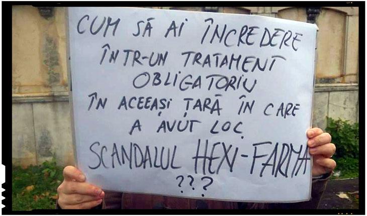 Cum sa ai incredere intr-un tratament obligatoriu in aceeasi tara in care a avut loc scandalul HEXI PHARMA?, Foto: facebook.com/fratiaromanilor