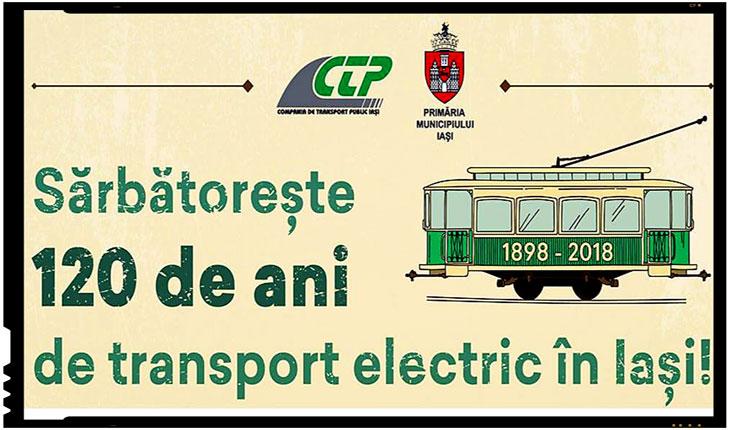 Orasul Iași sărbătorește 120 de ani de transport electric, Foto: facebook