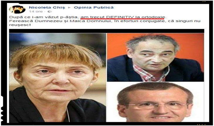 Monica Macovei si trupa sa de comando din Parlamentul European provoaca oamenii sa se converteasca la ortodoxie!, Foto: captura Facebook.com
