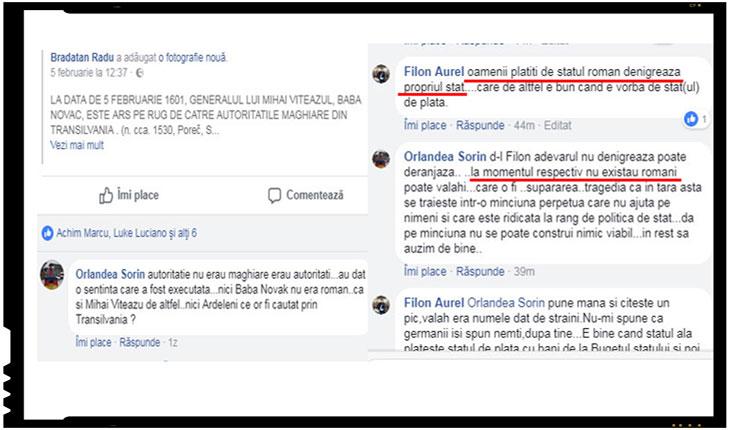Orlandea Sorin, angajat ca referent al Primariei Comunei Șeica Mare, face propaganda antiromaneasca