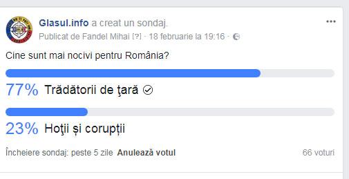 Cu cine trebuie inceputa deparazitarea României mai intai? Cine sunt mai nocivi pentru tara: tradatorii, sau hotii si coruptii?