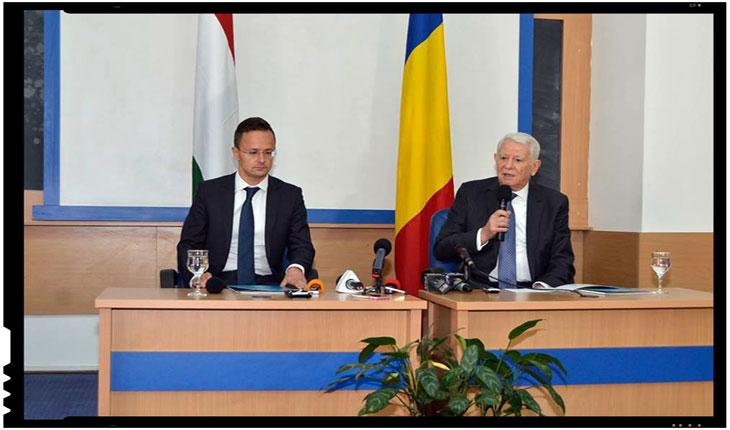 """Peter Szijjarto si Teodor Meleşcanu - """"În Ucraina, nici unei minorităţi nu îi pot fi limitate drepturile la învăţământ"""", Foto: mae.ro"""