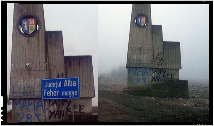 Indicator intre judetele Alba si Mures, Foto: facebook.com/florin.roman.14