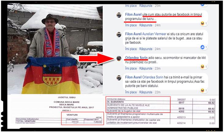 Orlandea Sorin, angajat al Primariei Seica Mare, Foto: captura facebook