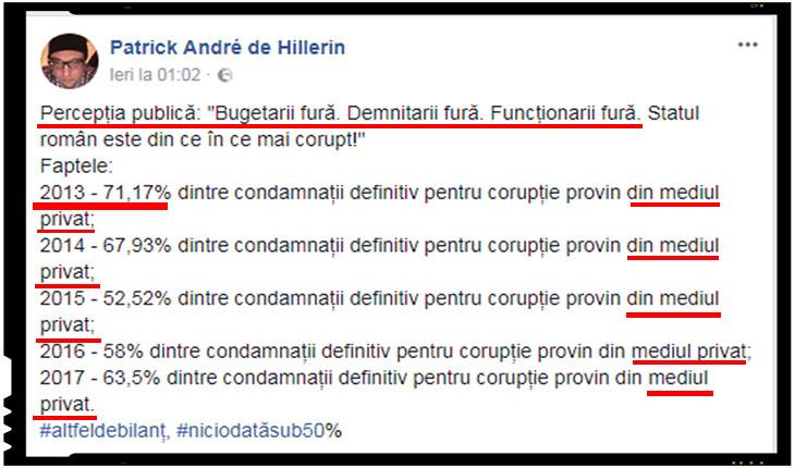 """Motto-ul luptei anticoruptie din România:""""Cica, hai sa combatem coruptia, mintind ca porcii!"""", Foto: captura facebook"""