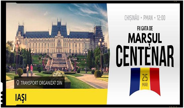 Ieșenii se organizează în număr cât mai mare pentru a fi prezenți la Marșul Centenarului de la Chișinău, Foto: facebook
