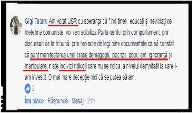 Se rupe lantul de iubire dintre cei care au votat USR-ul si Chichirăii de pe scena politica romaneasca?