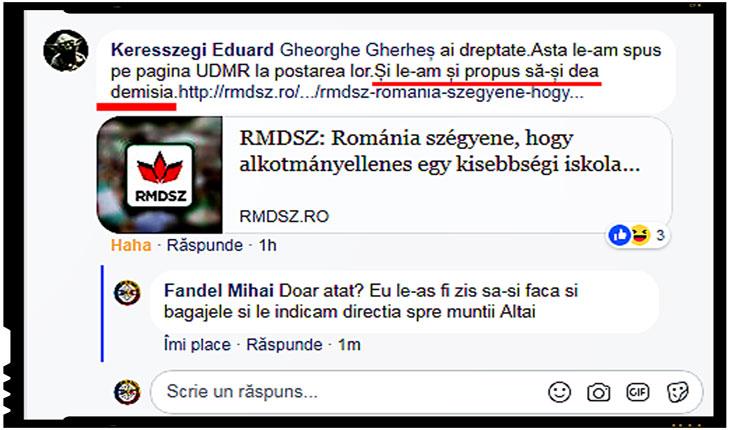 Rauri de lacrimi de crocodil au curs dupa decizia CCR-ului in cazul Liceului Teologic Romano-Catolic din Târgu Mureş. Unii maghiari chiar cer demisia liderilor UMDR!, Foto: captura facebook