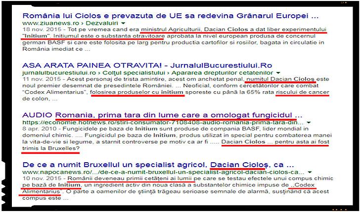 "Stiti cui ii datoram ""bucuria"" ca România e prima tara din UE care experimenteaza fungicidul cancerigen INITIUM?"