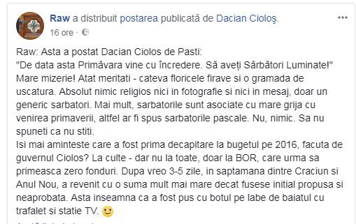 "Dacian Ciolos fuge de Invierea lui Hristos ca dracu' de tămâie? fuge de Invierea lui Hristos ca dracu' de tămâie! Atat a putut el posta, atat il lasa pe el ""protocoalele"" sa debiteze?, Foto: facebook"