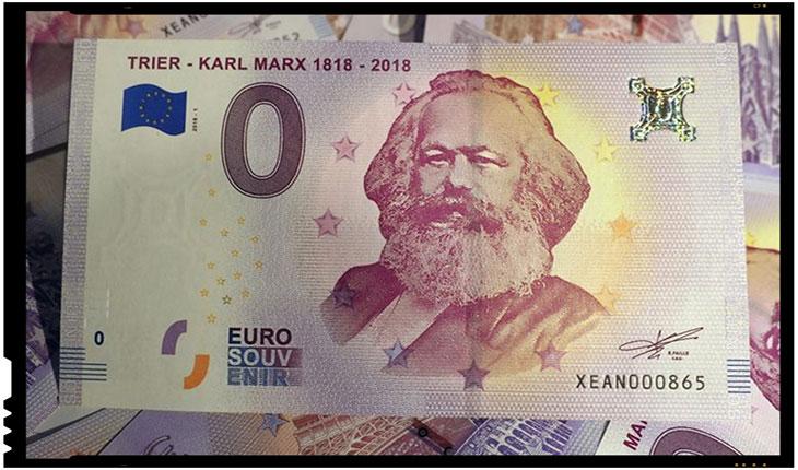 In Germania continua promovarea bolșevismului: s-au emis bancnote suvenir de zero Euro pentru a celebra 200 de ani de la nașterea lui Karl Marx