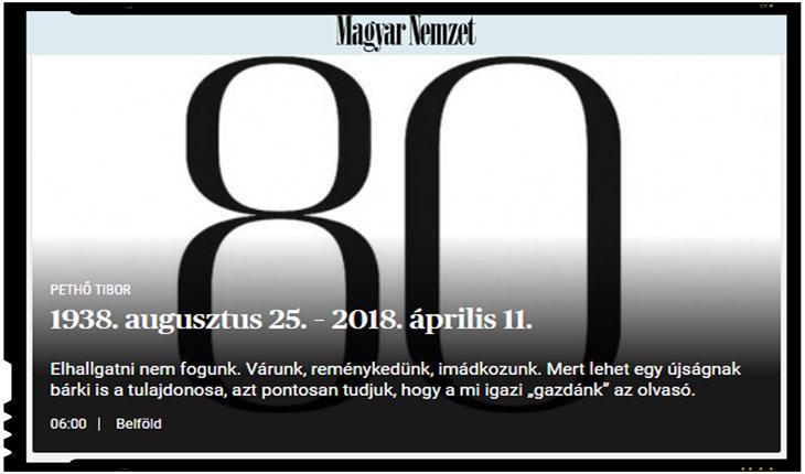 Nici bine n-a castigat Orban, ca s-a si inchis ziarul Magyar Nemzet? Adica asta e chiar o pura intamplare? Nici sorosistilor nu le va fi bine! , Foto: MNO.hu
