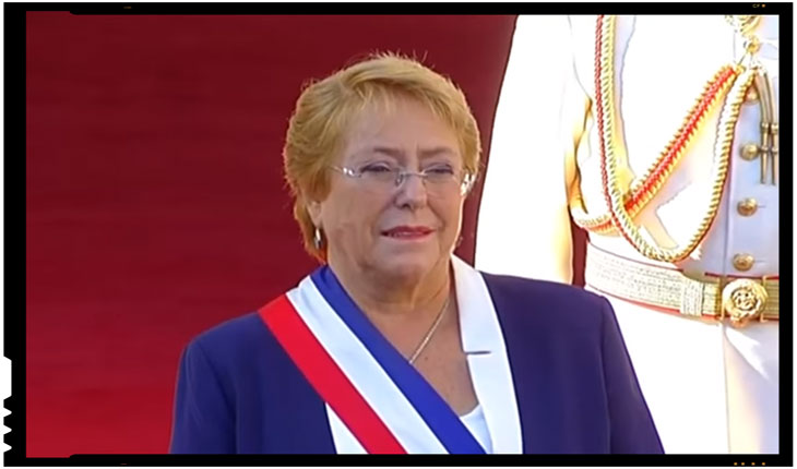 Verónica Michelle Bachelet Jeria, președinte a statului Chile, Foto: captura TV - (VIDEO) Asa arata un presedinte care a facut ceva pentru poporul sau, un presedinte care nu arunca paltoane ca la ospatari