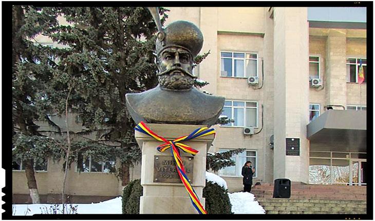 La Călărași, in Republica Moldova, a fost dezvelit de curand bustul lui Mihai Viteazul, Foto: facebook