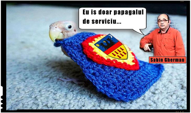 "Sabin Gherman: ""Eu is doar papagalul de serviciu..."", Foto original: yaplakal.com"